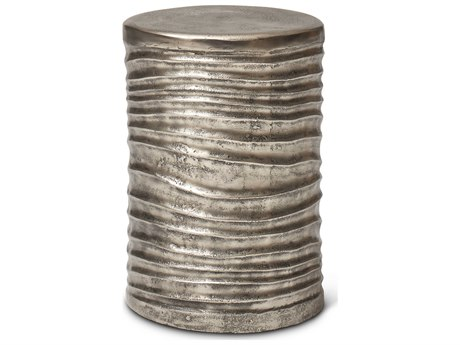 Urbia Tara Vintage Silver Accent Stool