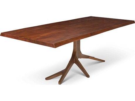 Urbia Trunk Walnut / Antique Brass 94'' Wide Rectangular Dining Table