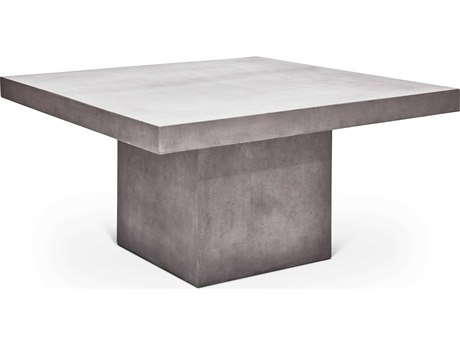 Urbia Una Dark Grey 59'' Wide Square Dining Table URBVGSUNADT59