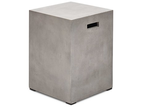 Urbia Una Dark Grey 13'' Wide Square End Table
