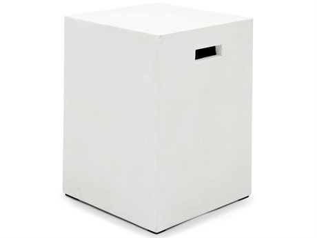 Urbia Una Ivory 13'' Wide Square End Table
