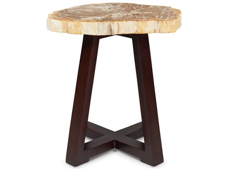 Urbia Valerie Natural Light / Dark Brown 15'' Wide End Table