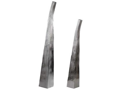 Uttermost Aavya Matte Nickel Vase (Set of 2) UT18963