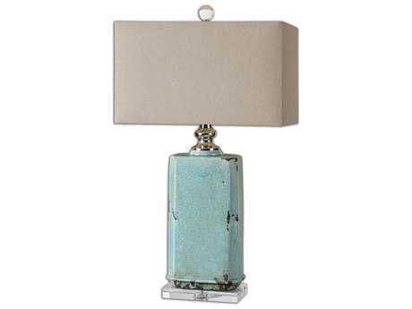 Uttermost Adalbern Blue Crackle Table Lamp UT261621