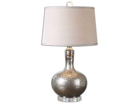 Uttermost Aemilius Gray Glass Table Lamp UT26157