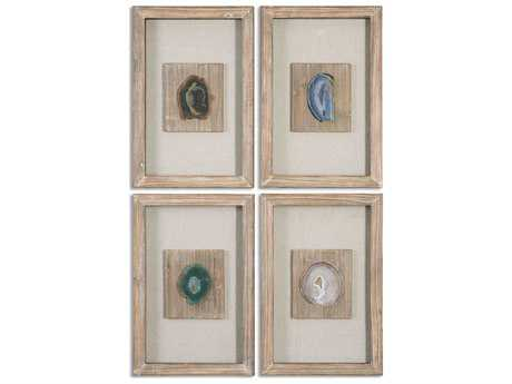 Uttermost Agate Stone Wall Art (4 Piece Set) UT14499