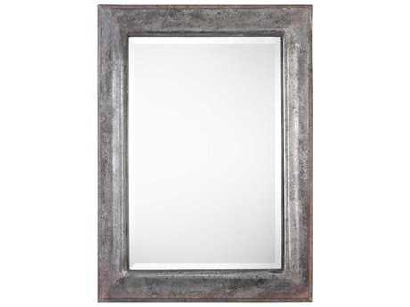 Uttermost Agathon Rust Bronze & Aged Stone Gray 33''W x 45''H Rectangular Wall Mirror UT09127