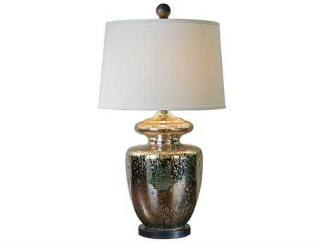 Uttermost Ailette Antique Mercury & Teal Table Lamp