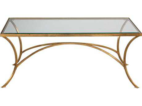 Uttermost Alayna Antique Gold Leaf 48''L x 24''W Rectangular Coffee Table