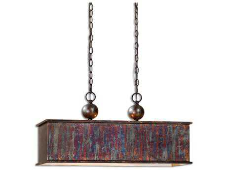 Uttermost Albiano Rectangle Bronze Two-Light Pendant UT21922