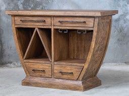 Aleph Mango Wood Bar Cabinet