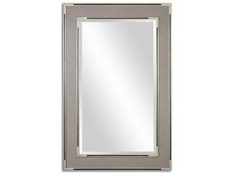 Uttermost Alfred 41 x 61 Oversized Gray-Tan Wall Mirror UT14489