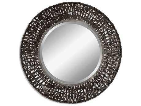 Uttermost Alita 37 Round Woven Metal Wall Mirror UT11587B