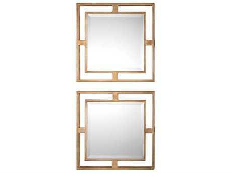 Uttermost Allick Antique Gold 18'' Square Wall Mirror UT09234