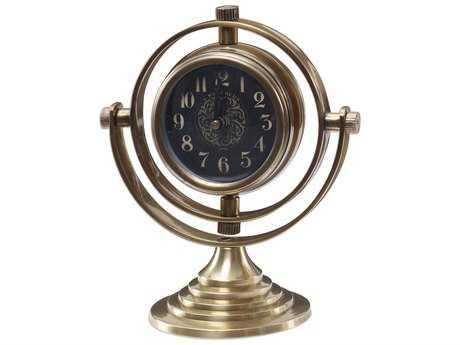 Uttermost Almonzo Brass Table Clock UT6430