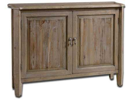 Uttermost Altair 42.25 x 10 Rectangular Reclaimed Wood Console Cabinet