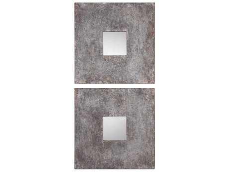 Uttermost Altha Burnished Zinc 20'' Square Wall Mirror UT09208