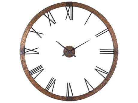 Uttermost Amarion 60 inch Copper Wall Clock UT06655