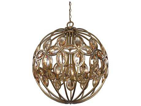 Uttermost Amber Gold Sphere Eight-Light Pendant UT21269