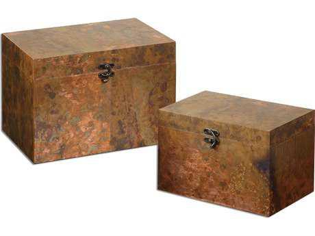 Uttermost Ambrosia Copper Boxes (2 Piece Set) UT19827