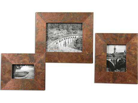 Uttermost Ambrosia Copper Photo Frames (3 Piece Set) UT18564