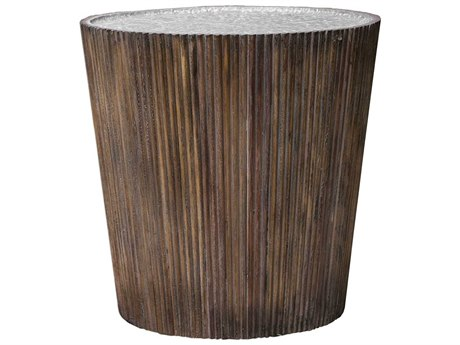 Uttermost Amra 22'' Wide Round Drum Table