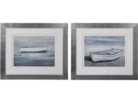 Uttermost Anchored By The Beach Glass Wall Art UT41595