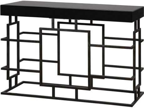 Uttermost Andy Black 52'' x 16'' Rectangular Console Table UT24643