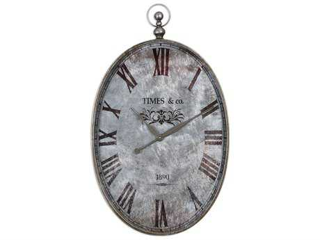Uttermost Argento Antique Wall Clock UT06642