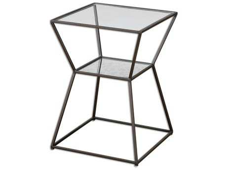 Uttermost Auryon 16 Square Iron Black End Table UT24438