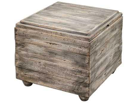 Uttermost Avner 22.5 Square Wooden Cube Table UT25603