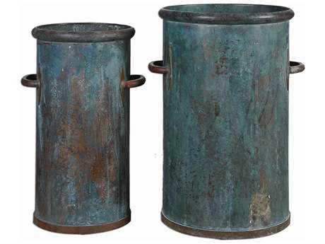 Uttermost Barnum Tarnished Copper Cans (Set of 2) UT19980