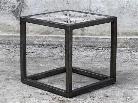 Uttermost Baruti 24'' Wide Square End Table