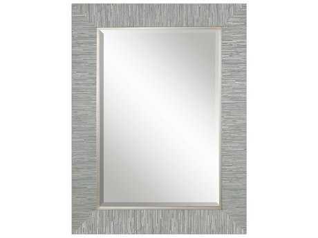 Uttermost Belaya 28 x 38 Rectangular Silver Wood Wall Mirror