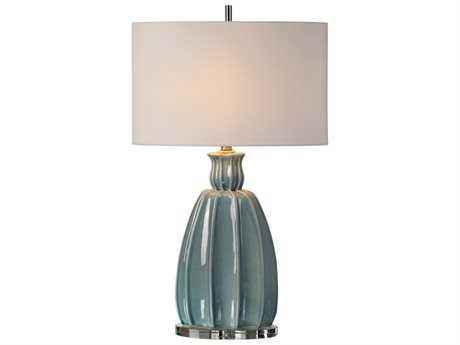 Uttermost Billy Moon Suzanette Sky Blue Ceramic Buffet Lamp