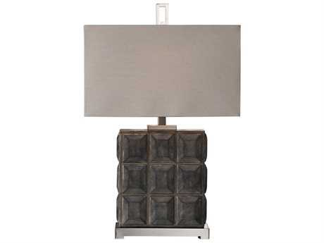 Uttermost Billy Moon Kastoria Rusty Bronze Block Buffet Lamp