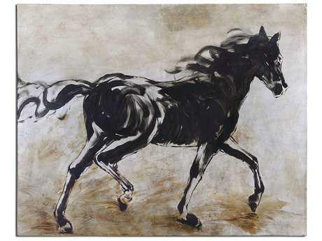 Uttermost Blacks Beauty Horse Wall Art UT34262