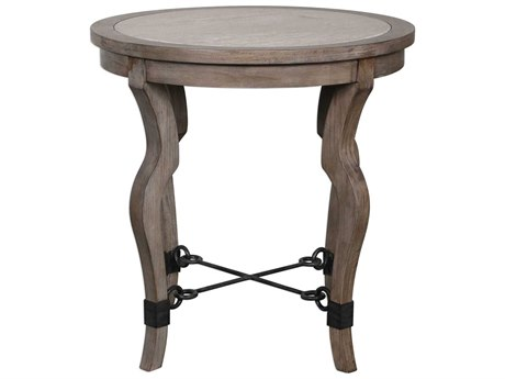 Uttermost Blanche 25'' Wide Round End Table