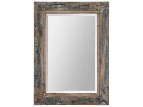 Uttermost Bozeman 28 x 38 Distressed Blue Wall Mirror