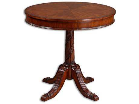 Uttermost Brakefield 32 Round Pecan Pedestal Table UT24149