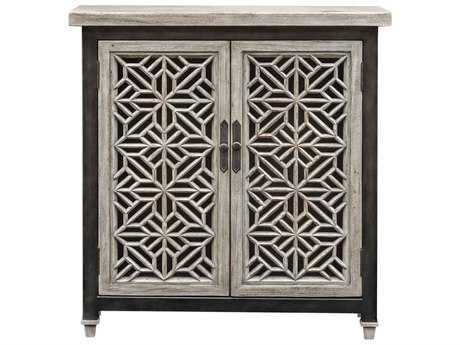 Uttermost Branwen Aged White & Light Gray 50''W x 18''D Chest Cabinet UT25772