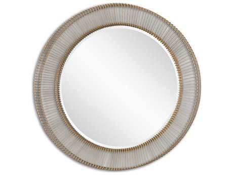 Uttermost Bricius 40 x 40 Round Metal Wall Mirror UT08125