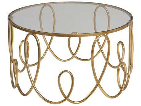 Uttermost Brielle Gold 35' Round Coffee Table
