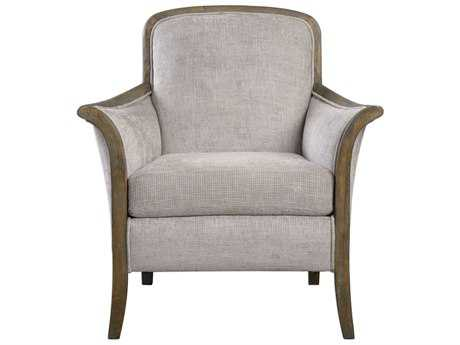 Uttermost Brittoney Taupe & Stone Accent Chair