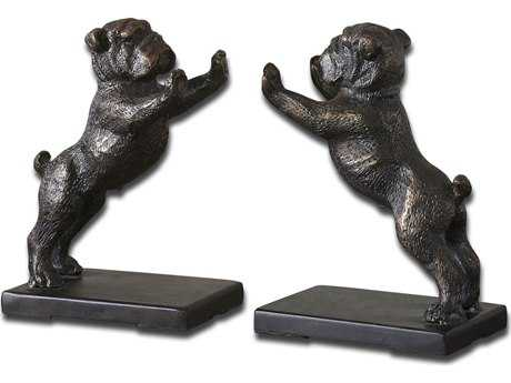 Uttermost Bulldogs Cast Iron Bookends (2 Piece Set) UT19643