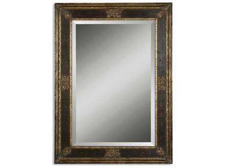 Uttermost Cadence 34 x 46 Small Antique Gold Wall Mirror UT11207B