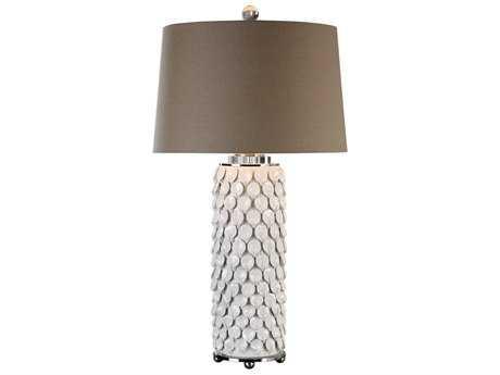 Uttermost Calla Lillies Gloss White Table Lamp