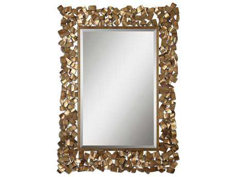 Uttermost Capulin 38 x 54 Antique Gold Wall Mirror UT12816