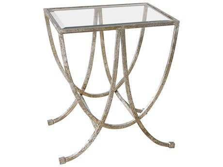 Uttermost Carolyn Kinder Marta Antiqued Silver Side Table