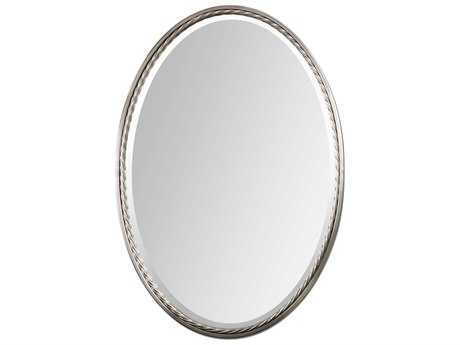 Uttermost Casalina 22 x 32 Nickel Oval Wall Mirror UT01115